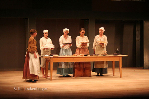 Cyrano de Bergerac, 12.Klass-Theater Steiner-Schule Wetzikon, Regie: Jan Hubacher, Backstube, 2007