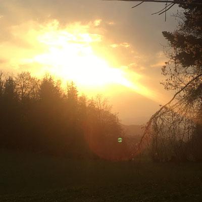 Abendstimmung über Wald ZH, Zürcher Oberland, Switzerland