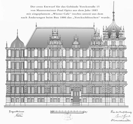Erster Entwurf / First Constructional Drawing of Paul Opitz 1885