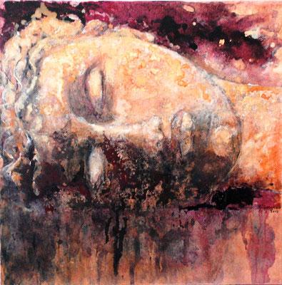 Vénus rêveuse - technique mixte - 70x70