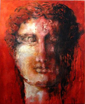Dame romaine - technique mixte - 120x100