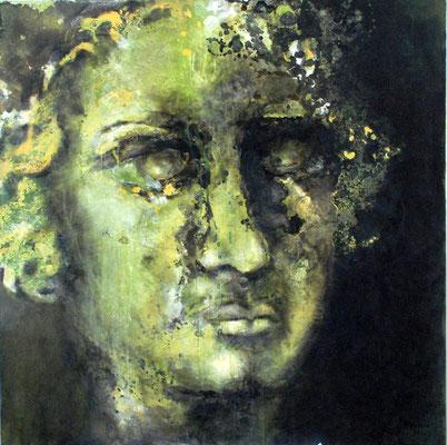 Le jeune Beethoven - technique mixte - 100x100