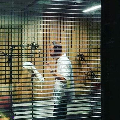 """Enregistrement de l'audioguide """"Noces de Charbon"""" - Dans les studios du 9/9 Bis"""