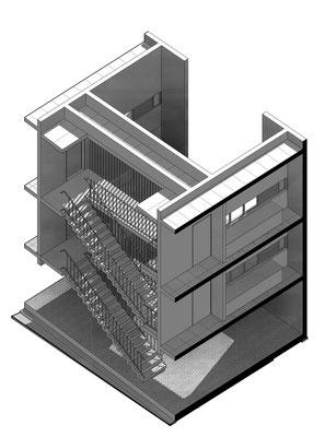 Seccion Escalera D. Bim Arquitectura Uc