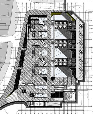 Conjunto Habitacional y Cultural Calama Chile Planta Nivel 1