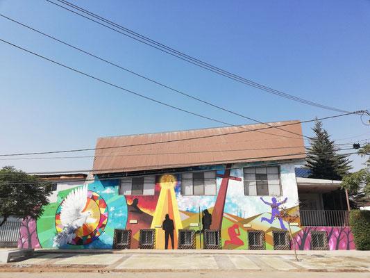 Intervecion Quiero Mi Barrio y Mural Iglesia Metodista Arq. Arturo Santana