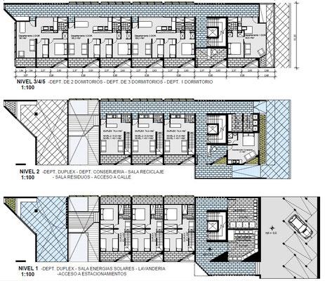 Plano Viviendas Conjunto Habitacional y Cultural Calama Chile