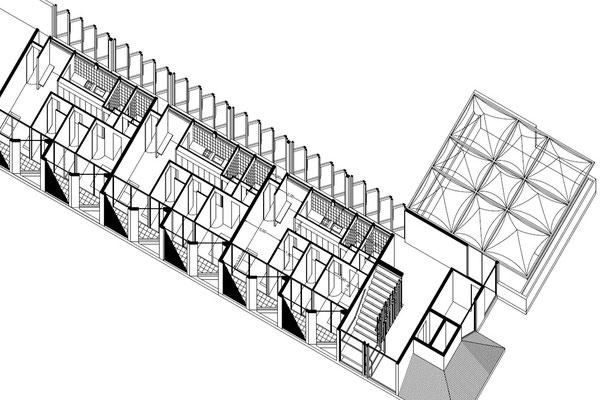 Isometrica Departamentos Conjunto Habitacional y Cultural Calama Chile