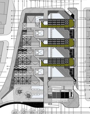 Conjunto Habitacional y Cultural Calama Chile Planta Techo Nivel 5