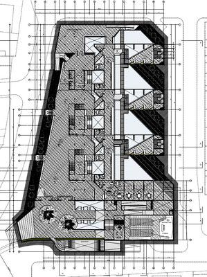 Conjunto Habitacional y Cultural Calama Chile Planta Nivel Subsuelo 1