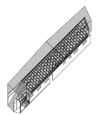 Isometrica Ampliacion Sala multiuso sobre sedes comunitarias
