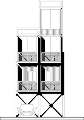 Container Sección para Arq.Hans Rojas