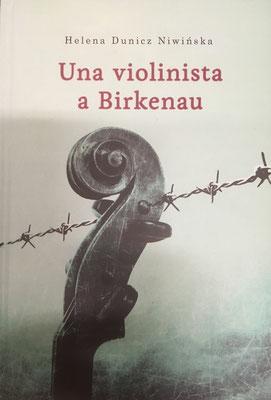 """Portada del libro en italiano: """"Una violinista a Birkenau""""."""