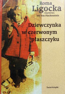 """Portada del libro en polaco: """"Dziewczynka w czerwonym płaszczyku""""."""