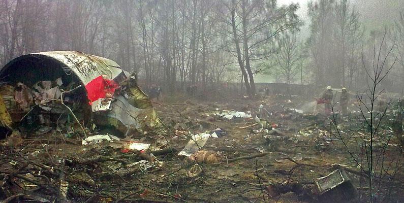 Accidente mortal del avión Presidencial polaco, el 10 de abril de 2010. CC BY-SA 2.5