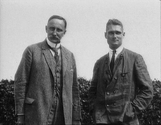 Karl Haushofer y Rudolf Hess.