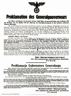 Proclamación oficial del Gobierno General.