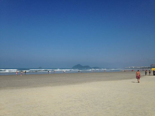 Playa de la localidad brasileña de Bertioga (Brasil).