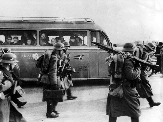 Dinamarca capitulaba en seis horas ante el ataque militar más corto llevado a cabo por los nazis alemanes durante la Segunda Guerra Mundial. WWII Pictures