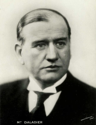 Édouard Daladier, fotografía de Henri Manuel, 1930.