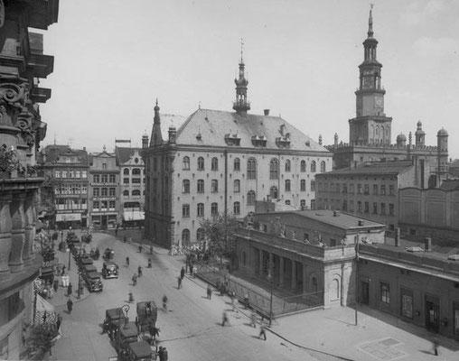 Ayuntamiento de Posen, lugar donde se dieron los discursos (el edificio no existe actualmente).