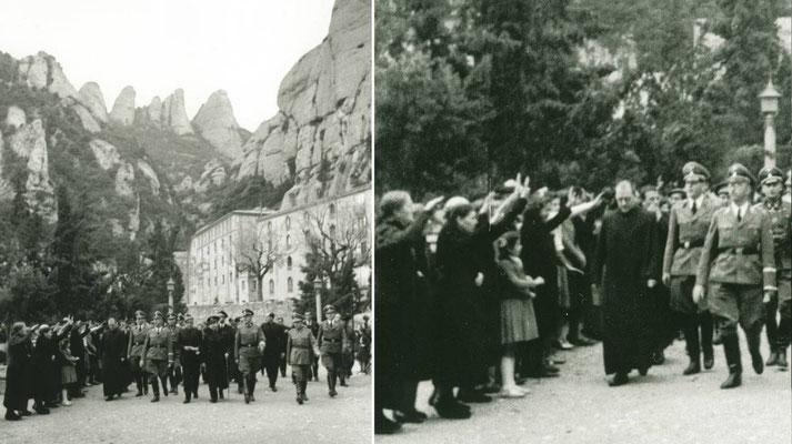 Llegada de Heinrich Himmler al Monasterio de Montserrat. Carlos Pérez de Rozas/Arxiu Fotogràfic de Barcelona