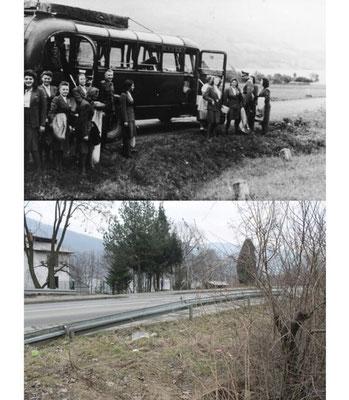 Porabka Village-la ubicación de Solahütte. El autobús se detenía al pie de la colina donde se encontraba el refugio. Los miembros de las SS tenían que subir caminando por el camino hasta la cima adonde se encontraba el refugio.