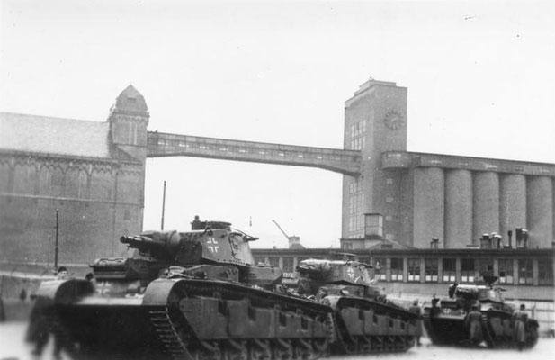 Tanques nazis alemanes en Oslo (Noruega). Bundesarchiv, Bild 183-L03744 / CC-BY-SA 3.0