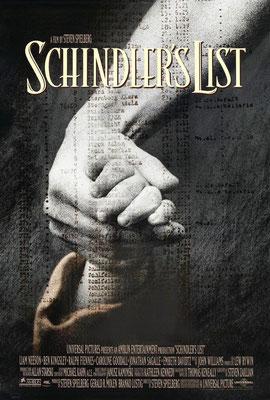 Póster oficial en inglés de La Lista de Schindler.