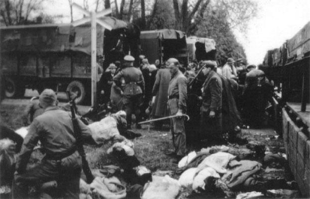 El 8 de diciembre de 1941, el primer grupo de judíos fue deportado y asesinado en cámaras de gas móviles en Kulmhof (Chełmno). El primer campo de exterminio nazi alemán comenzó su operación. Memorial and Museum Auschwitz-Birkenau