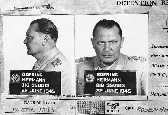 Informe de detención de Hermann Göring