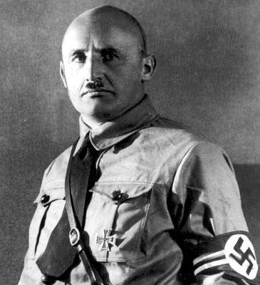 """Julius Streicher, militar, propietario y editor del diario de ideología nacionalsocialista """"Der Stürmer"""" (El atacante). WW2 Tweets from 1940"""