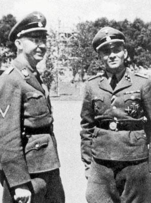 Heinrich Himmler con Rudolf Höß.