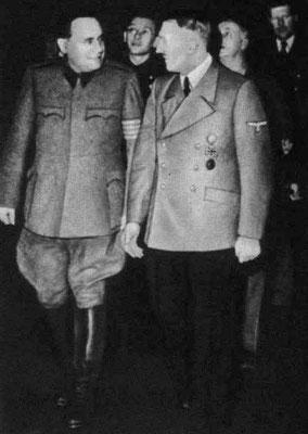 Ferenc Szálasi con Adolf Hitler.