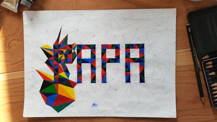 """Künstler Martin Lingens, Entstehung von """"PAPA ON THE TOP"""""""