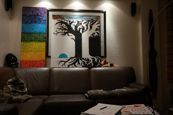 "Künstler Martin Lingens, Entstehung von ""TREES LIVE AT NIGHT"""