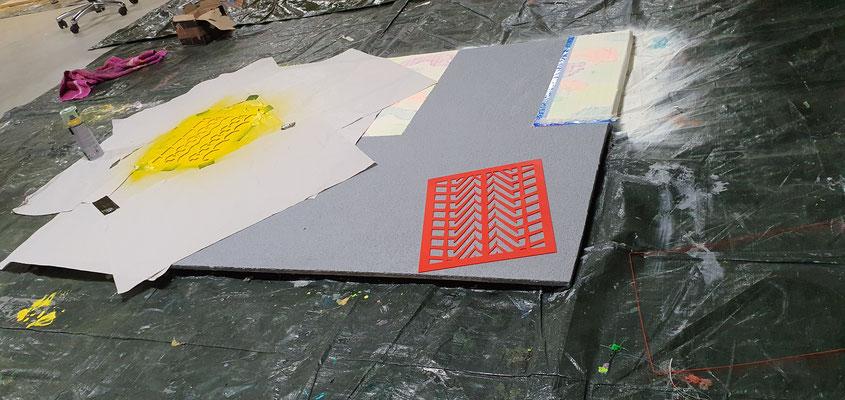"""Künstler Martin Lingens, Entstehung von """"VIEW OF A STREET LAMP"""""""