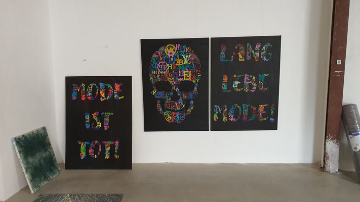 "Künstler Martin Lingens, Entstehung von ""THE ETERNAL CIRCLE OF CHANGE"""