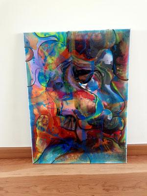 """Künstler Martin Lingens, Entstehung von """"Mirror of Life"""""""