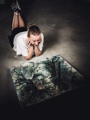 Künstler Martin Lingens, Fotoshooting mit Mies und Steube-Schwier