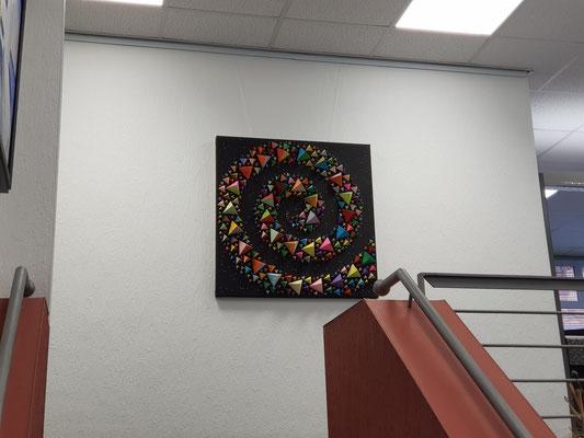 """Künstler Martin Lingens, Entstehung von """"Spiral/Galaxy"""""""