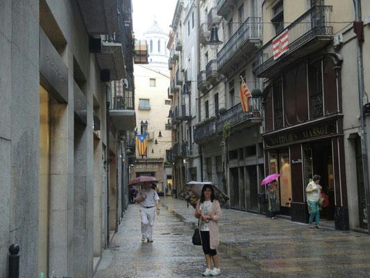 Girona und Inge im Regen