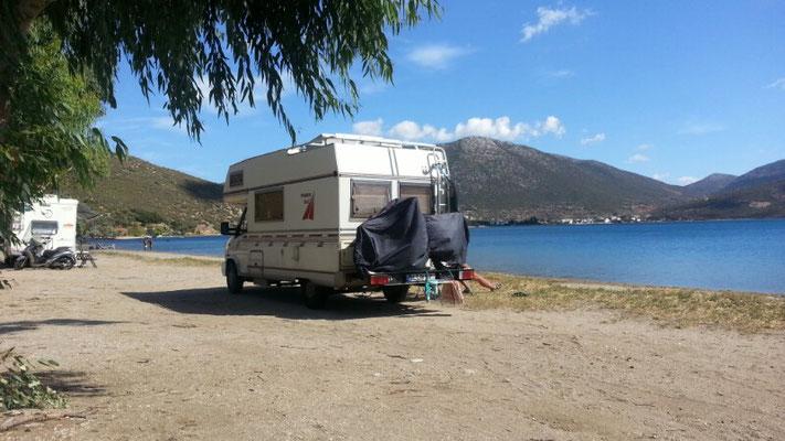 Wildcamping am Strand von Panagia