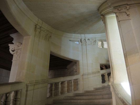 Die berühmten Wendeltreppen, Entwurf von da Vinci?
