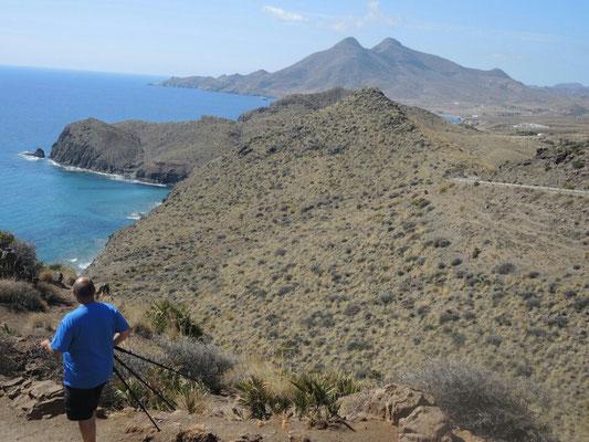 am Cabo da Gata unterwegs