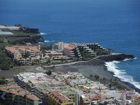 Unser Hotel Sol La Palma, aufgenommen in einer Serpentinenkurve