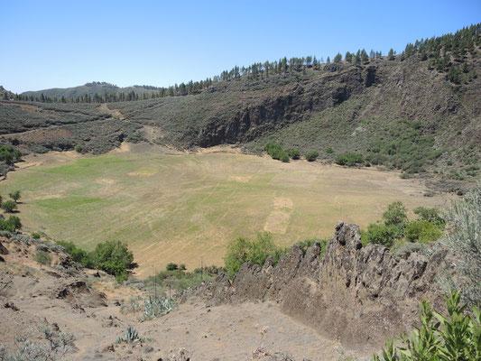 Für die Einen ist es ein Krater  - für die Anderen die Caldera los Marteles