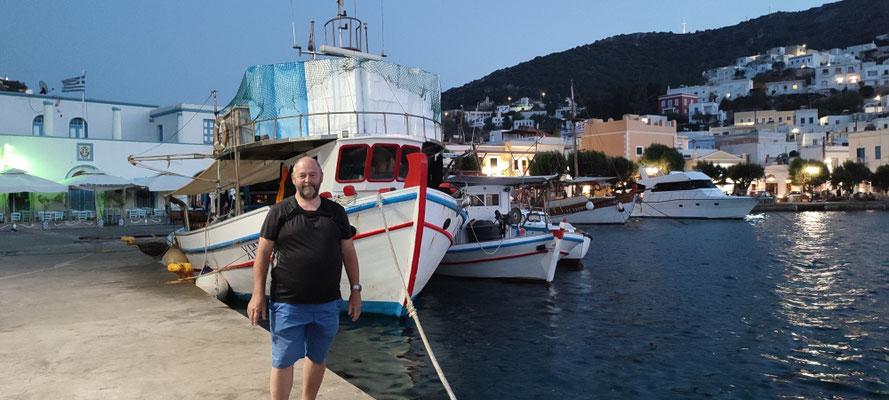 Im Hafen von Agios Marina...