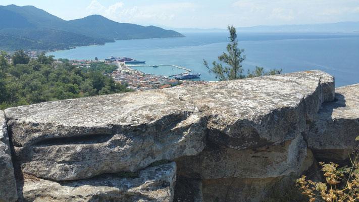 Mauern des Heiligtums der Athene