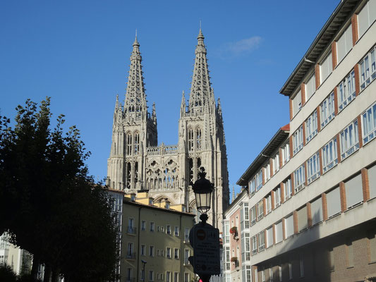 Die riesige gotische Kathedrale von Burgos